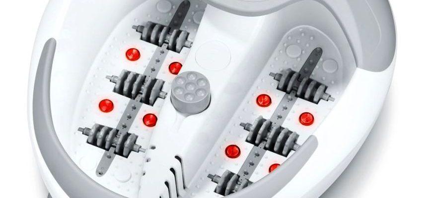 Idromassaggio plantare di lusso BEURER FB 50 con massaggio vibrante, luce a infrarossi e terapia magnetica