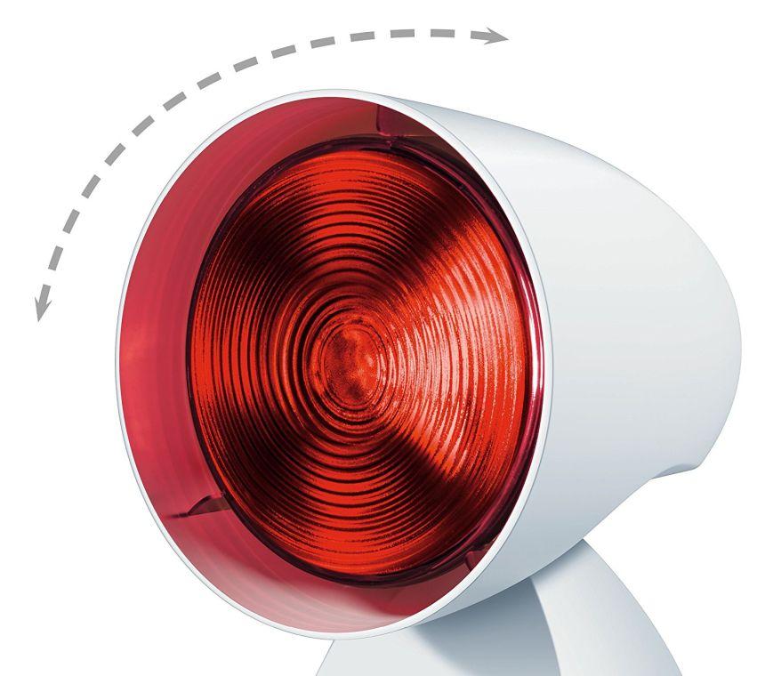 La testa della lampada a infrarossi BEURER IL 35 ha ben 5 livelli di inclinazione, regolabili secondo le vostre esigenze