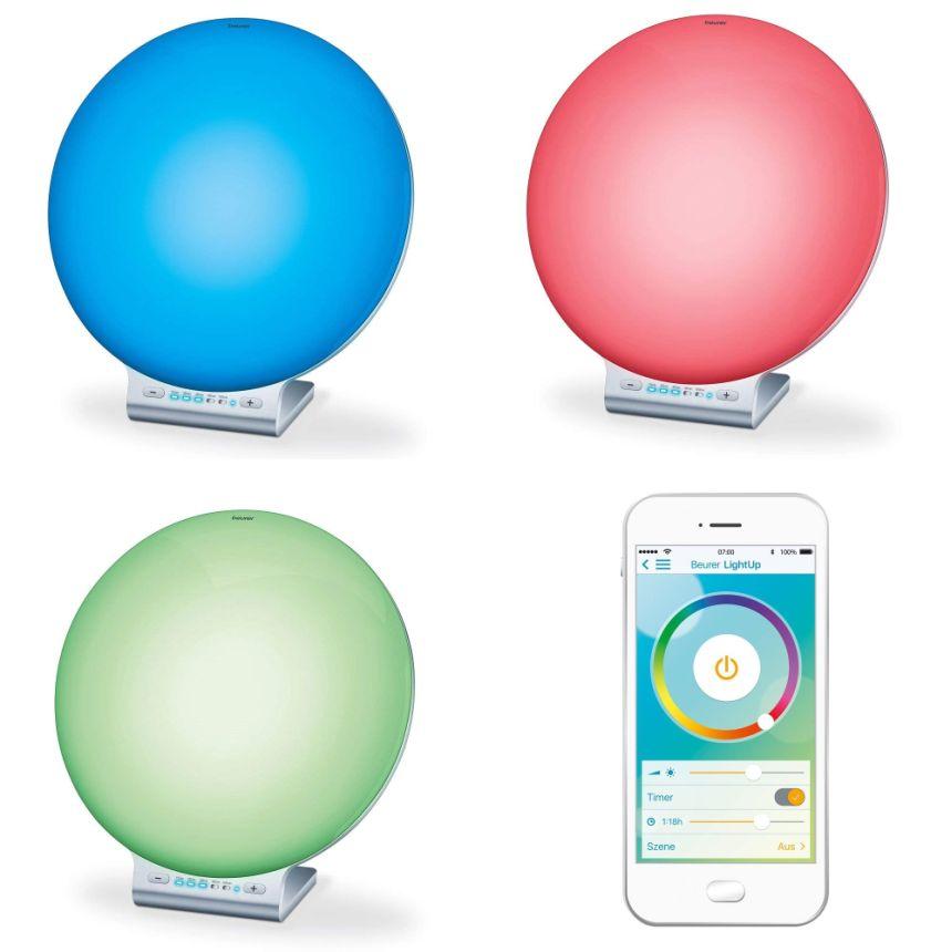 Per chi non si accontenta: la lampada BEURER TL 100 permette un'ampia variazione cromatica che potete controllare con App dedicata sul vostro smartphone