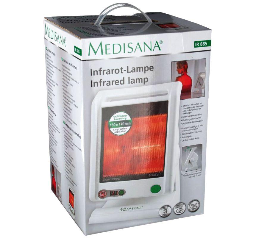 La confezione del radiatore termico a raggi infrarossi per terapia del calore MEDISANA IR 885 così come vi arriverà a casa